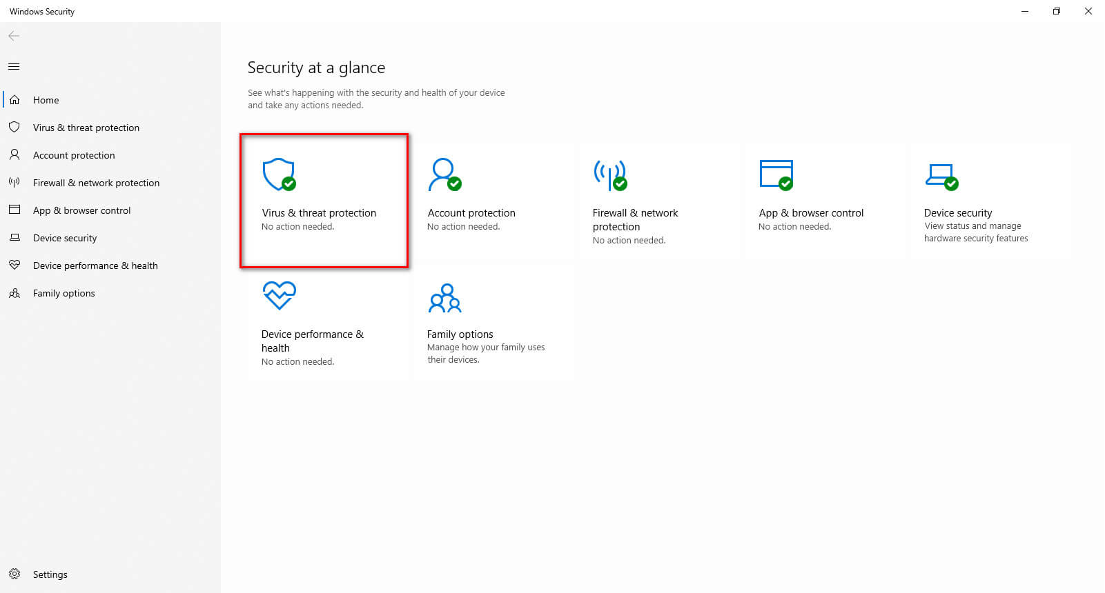 Tắt Windows Security trong Windows 10